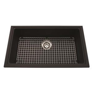Kindred Franke 31.56-in X 18.13-in Black Granite Single Sink