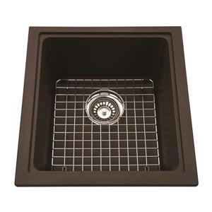 Kindred Franke 16.75-in X 18.13-in Brown Granite Single Sink