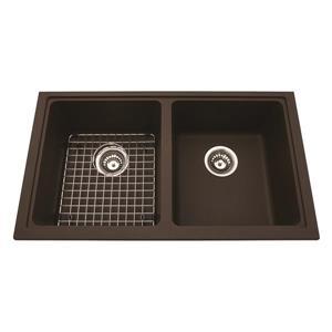 Kindred Granite Brown Franke Double Sink 31.56-in X 18.13-in