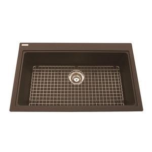 Kindred Franke 31.56-in X 20.50-in Brown Granite Single Sink