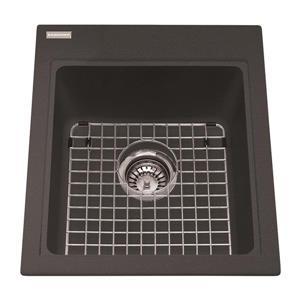 Kindred Franke 16.75-in X 20.50-in Black Granite Single Sink