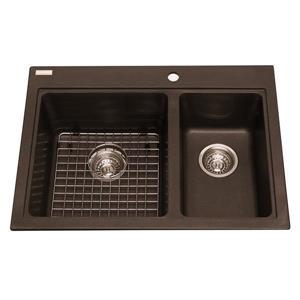 Kindred Granite Brown Franke Double Sink 27.75-in X 20.5-in