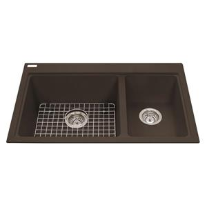 Kindred Brown Franke Double Sink 31.56-in X 20.5-in