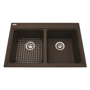 Kindred Granite Cappuccino Franke Double Sink 20.5-in