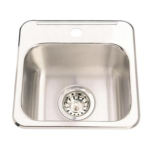 Kindred 13.63-in x 13.63-in Stainless Steel Single Sink