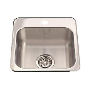 Kindred 15.13-in x 15.44-in Stainless Steel Single Sink