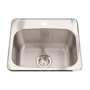 Steel Queen Topmount Single Hospitality Sink