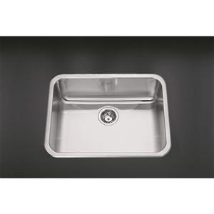Kindred 22-in x 8-in Stainless Steel Single Sink