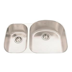 Kindred 20.63-in Stainless Steel Double Sink