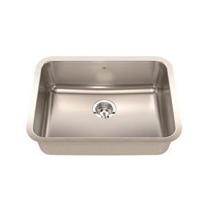 Kindred Steel Queen Undermount 24.75-in x 18.75-in Stainless Steel Single Kitchen Sink