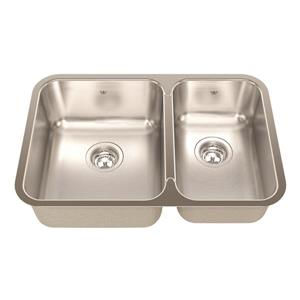 Kindred 26.88-in x 17.75-in Stainless Steel Double Sink
