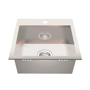 Kindred Franke 17-in X 17-in Stainless Steel Single Sink