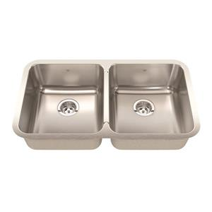 Kindred 32.88-in x 18.75-in Stainless Steel Double Sink