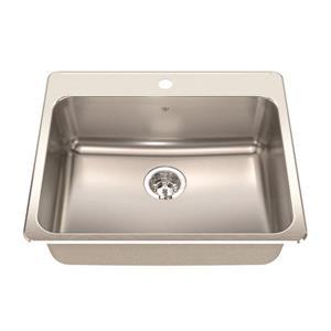 Steel Queen Topmount Single Kitchen Sink