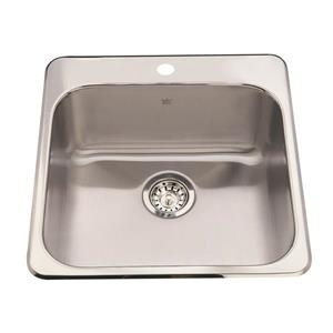 KIndred 20-in x 20.50-in Stainless Steel Single Sink