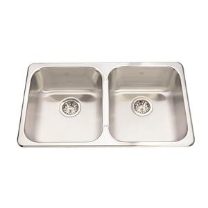 Kindred 31.25-in x 18.44-in Stainless Steel Double Sink