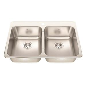 Kindred Steel Queen 31.25-in Stainless Steel Double Sink