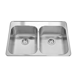 Kindred 31.25-in x 21-in Stainless Steel Double Sink