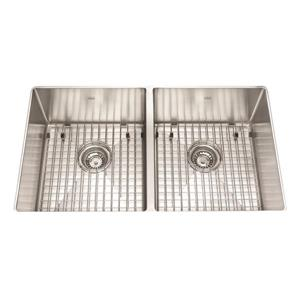 Kindred 31-in x 18-in Stainless Steel Double Sink