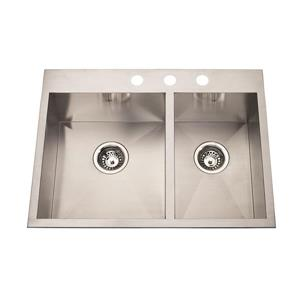 """Kindred Franke Double Sink - 27"""" - Stainless Steel"""