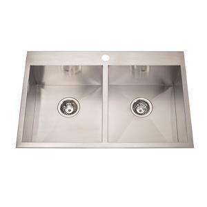 Steel Queen Dualmount Double Kitchen Sink