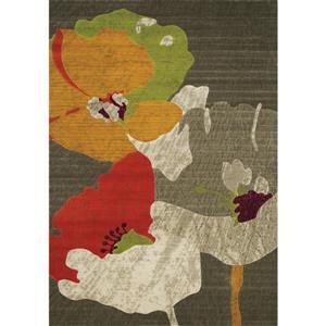 Kalora Topaz Watercolor Flowers Texture Rug - 8' x 10'