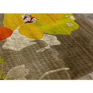Kalora Topaz Watercolor Flowers Texture Rug - 2' x 4'