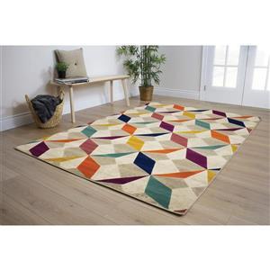 Kalora Topaz Diamond Checkerboard Rug - 5' x 8' - Orange