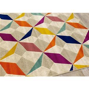 Kalora Topaz Diamond Checkerboard Rug - 2' x 4' - Orange