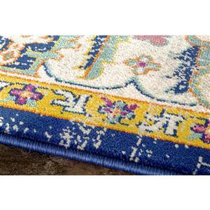 Kalora Topaz Colorful Traditional Rug - 5' x 8' - Orange