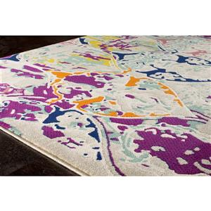 Kalora Topaz Colorful Distressed Rug - 8' x 11'
