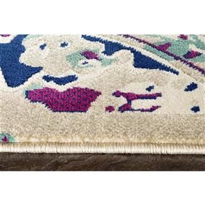 Kalora Topaz Colorful Distressed Rug - 5' x 8'