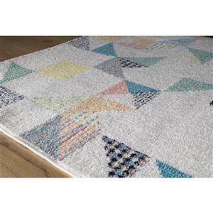 Kalora Spring Quilted Pastels Rug - 6' x 8'