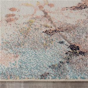 Kalora Spring Distressed Outline Rug - 5' x 8' - Pink