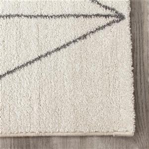 Kalora Spring Geometric Lattice Outline Rug - 5' x 8' - Grey