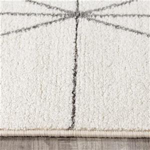 Kalora Spring Geometric Lattice Outline Rug - 8' x 11'- Grey