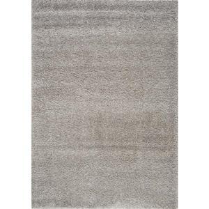 Kalora Shaggy Comfy Rug - 5' x 8' - Silver