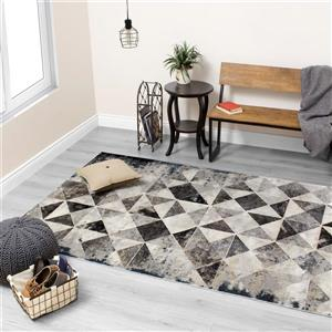 Kalora Sidra Chic Triangle Rug - 5' x 8' - Cream