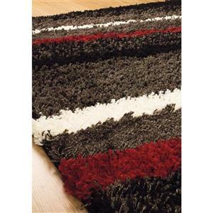 Kalora Shaggy Soft Arches Rug - 5' x 8' - Charcoal