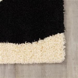 Kalora Shaggy Charcoal Wave Rug - 8' x 11' - Beige