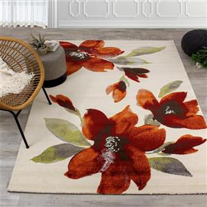 Kalora Safi Watercolor Flowers Area Rug - 8' x 11'