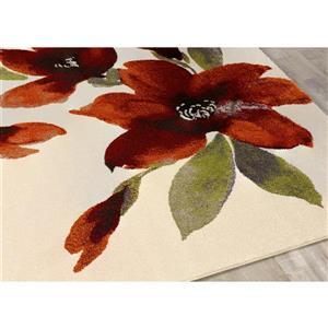 Kalora Safi Watercolor Flowers Area Rug - 5' x 8'