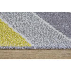 Kalora Safi Cube Rug - 7' x 10' - Grey/Yellow/Cream
