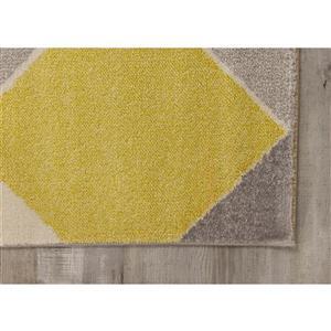 Kalora Safi Cube Rug - 8' x 11' - Grey/Yellow/Cream
