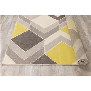 Kalora Safi Cube Rug - 5' x 8' - Grey/Yellow/Cream