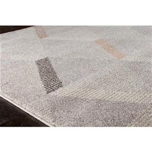 Kalora Safi Subtle Triangles Rug - 8' x 11' - Grey