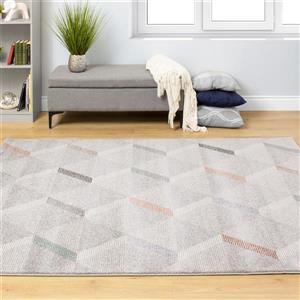 Kalora Safi Subtle Triangles Rug - 5' x 8' - Grey
