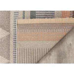 Kalora Safi Ordered Lines Rug - 5' x 8' - Grey