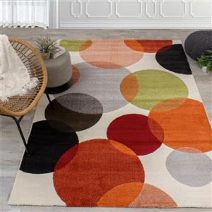 Kalora Safi Colorful Bubbles Area Rug - 5' x 8'