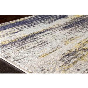 Kalora Saffron Distressed Band Rug - 8' x 11' - Cream